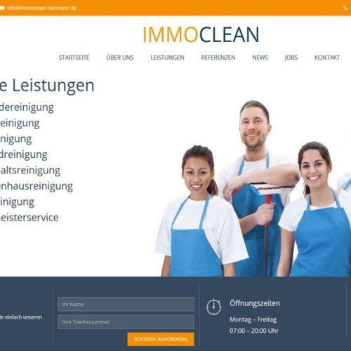 Homepage Reinigungsunternehmen